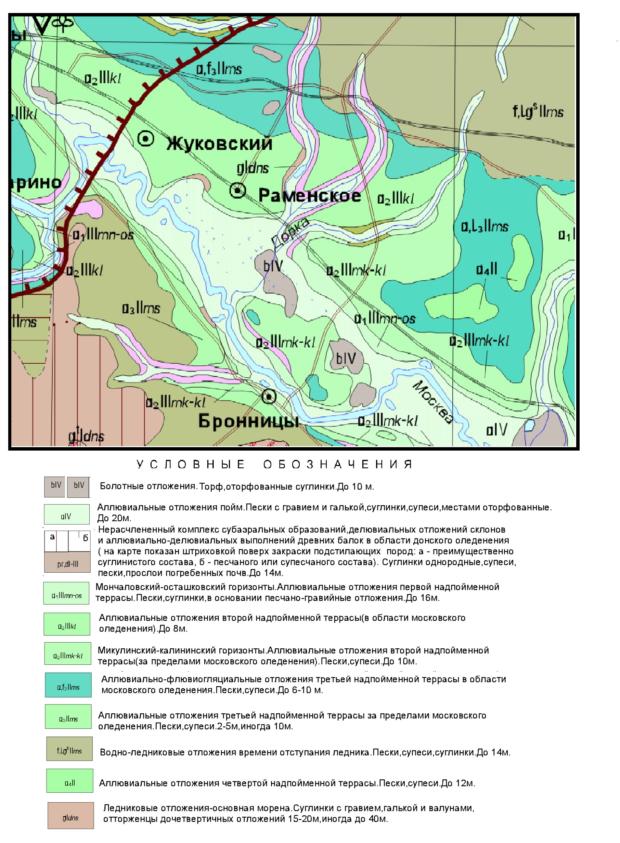 Геологическая карта четвертичных отложений