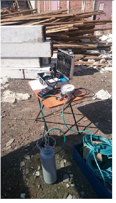 Инженерно-геологические изыскания в Каширском районе. Прессиомерические испытания