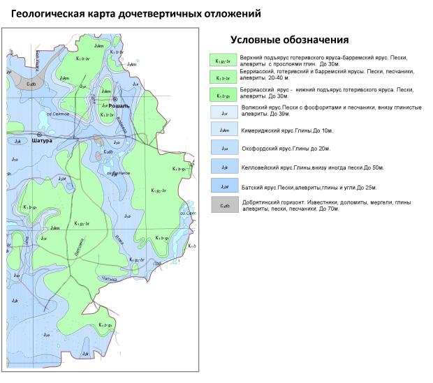 Геологическая карта дочетвертичных отложений