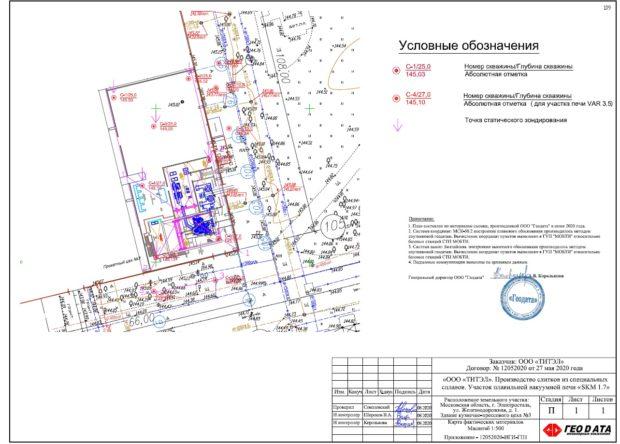 план расположения скважин